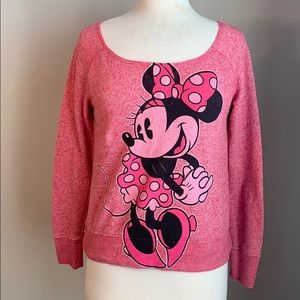 Disney Minnie Mouse print pink sweater
